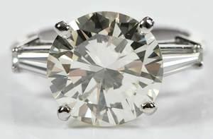 Platinum 5.58ct. Diamond Ring