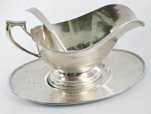 Sterling Gravy Boat and Ladle