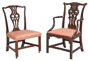 Two Period Chippendale Mahogany Chairs