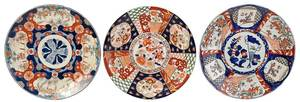 Three Large Japanese and Chinese Imari Chargers