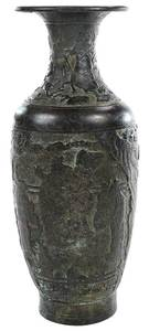 Chinese Archaic Style Patinated Bronze Vase