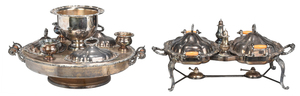 Two Large Silver Plate Servers