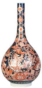 Large Japanese Imari Bottle Vase