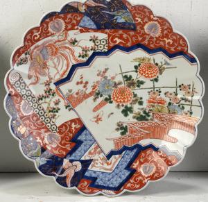 Three Large Japanese Imari Platters