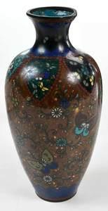 Four Japanese Cloisonne Vases