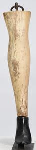 Folk Art Carved Leg Trade Sign