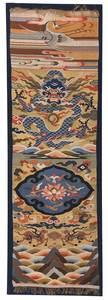 Chinese Kesi Slit Silk Tapestry Panel