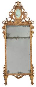 Italian Louis XVI Carved and Gilt Wood Mirror