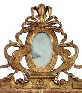 Italian Louis XVI Carved and Gilt Wood Mirror
