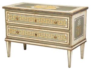 Italian Neoclassical Paint Decorated Commode