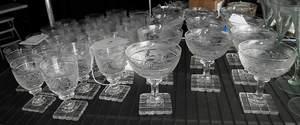 35 Piece Set of Anglo Irish Cut Crystal Stemware