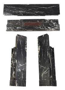 Black Veined Marble Fireplace Surround