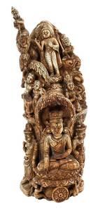 Rare Burmese Ivory Carving, Life of the Buddha