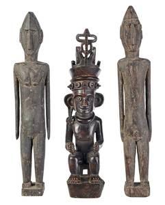 Three Indonesian Ancestral Guardian Wood Figures