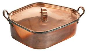 Irish Copper Lidded Turbot Pan