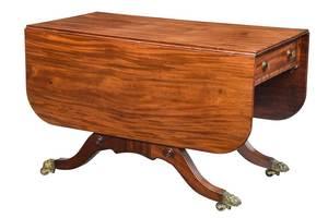 American Late Federal Mahogany Sofa Table