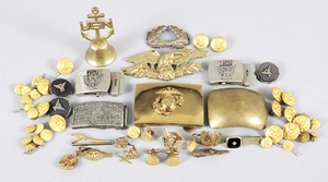 Large Group of Military Uniform Accessories