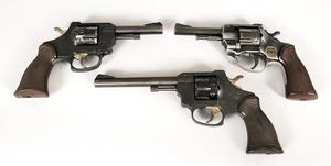 Three Double Action Revolvers
