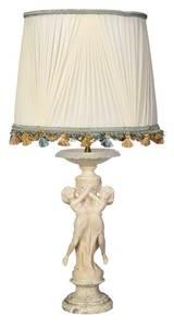Italian Carved Alabaster Figural Lamp