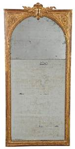 Louis XVI Carved and Gilt Wood Mirror