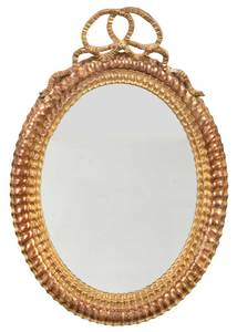 Louis XVI Style Carved and Gilt Oval Mirror