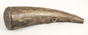 Carved Wood Powder Horn