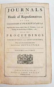 Journals of the House of Representatives