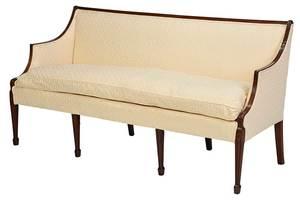 A George III Carved Mahogany Upholstered Sofa