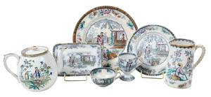 107 Pieces Ironstone Service, Chinese Pattern