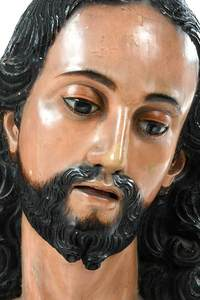 Three Carved Wood Santos Figures