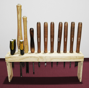 Lathe Tools (13 Pcs.) with Stand