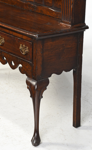 A Welsh Inlaid Oak Dresser and Rack