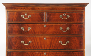George III Figured Mahogany Chest On Chest