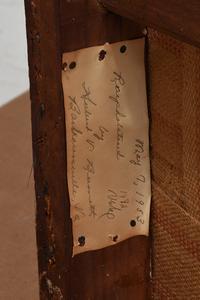 Pair Signed Louis XVI Painted, Carved Bergeres