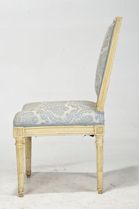 A Signed Louis XVI Carved and Painted Side Chair