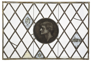 Leaded and Painted Window Depicting Jefferson