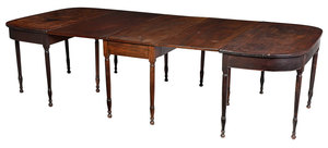 Southern Federal Mahogany Three Part Dining Table