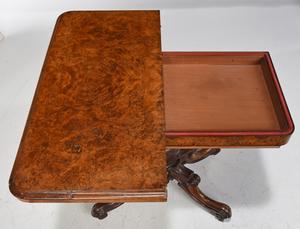 Classical Burlwood Games Table