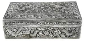 Chinese Export Silver Covered Box