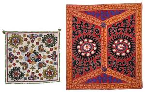 Two Uzbekistan Embroidered Panels