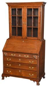 American Chippendale Walnut Secretary