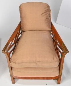 Pair of Hollywood Regency Club Chairs