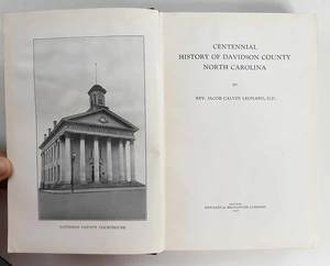 Nine North Carolina County History Titles
