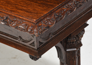 Gothic Revival Library Table