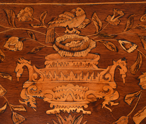 Dutch Queen Anne Marquetry Inlaid Games Table
