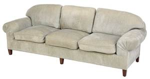 Contemporary Overstuffed Upholstered Sofa