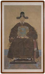 Pair of Large Framed Ancestor Portraits
