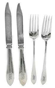 Tiffany Faneuil Sterling Flatware, 24 Pieces