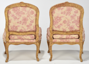 Pair of Louis XV Style Gilt Wood Backstools