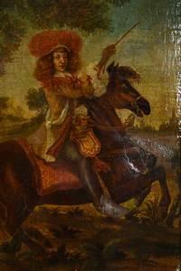 Flemish School Equestrian Portrait